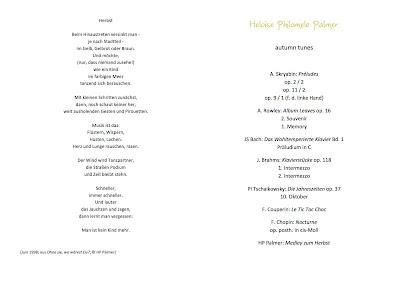 Heloise Palmer 'autunm tunes' 2020