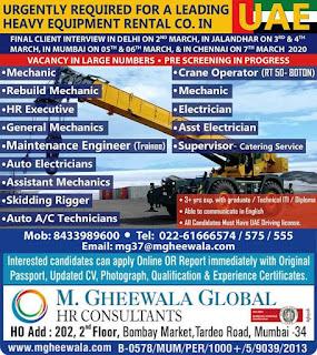 Heavy Equipment Rental Company in UAE