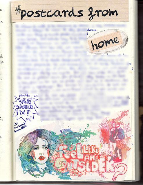 Páginas de Art journaling del Pegotiblog