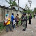 Satgas Yonif 514 dan Brimob Polri Pastikan Keamanan Kondusif di Jayawijaya