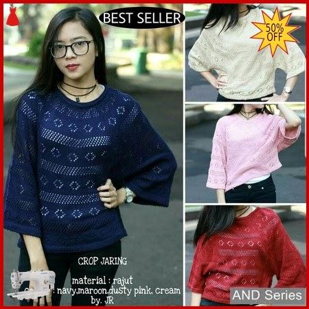 AND105 Baju Atasan Wanita Blouse Crop Jaring BMGShop