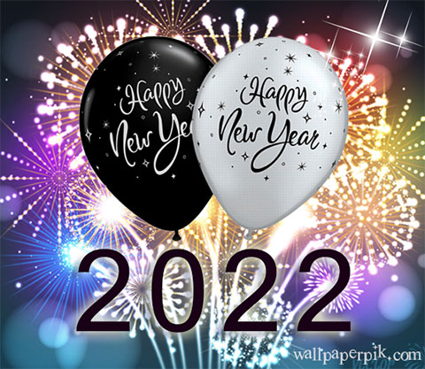 new year wishes image with ballon