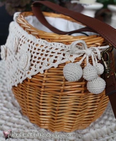 Схемы вязания крючком розы, пиона и декоративного кружева (2)