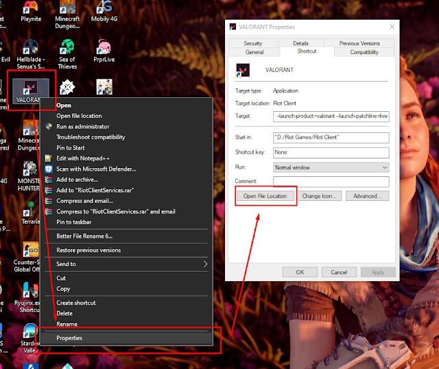 Menemukan Lokasi Folder Instalasi Game Valorant