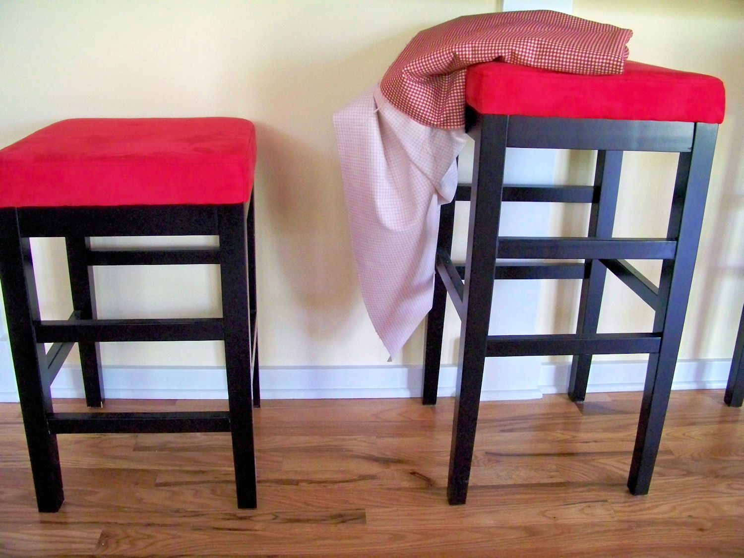 Recovering And Painting Counter Stools
