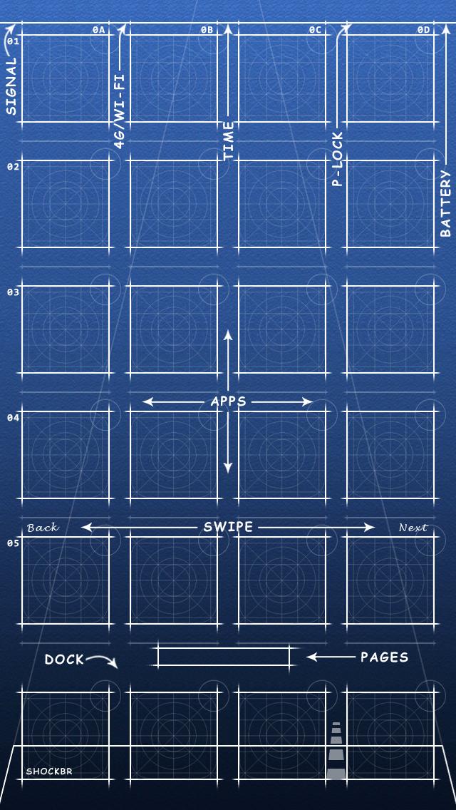 工程藍圖桌布