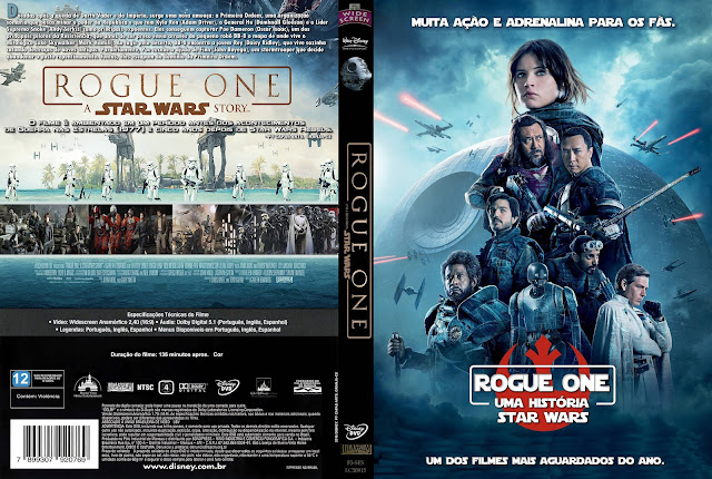 Capa DVD Rogue One Uma História Star Wars