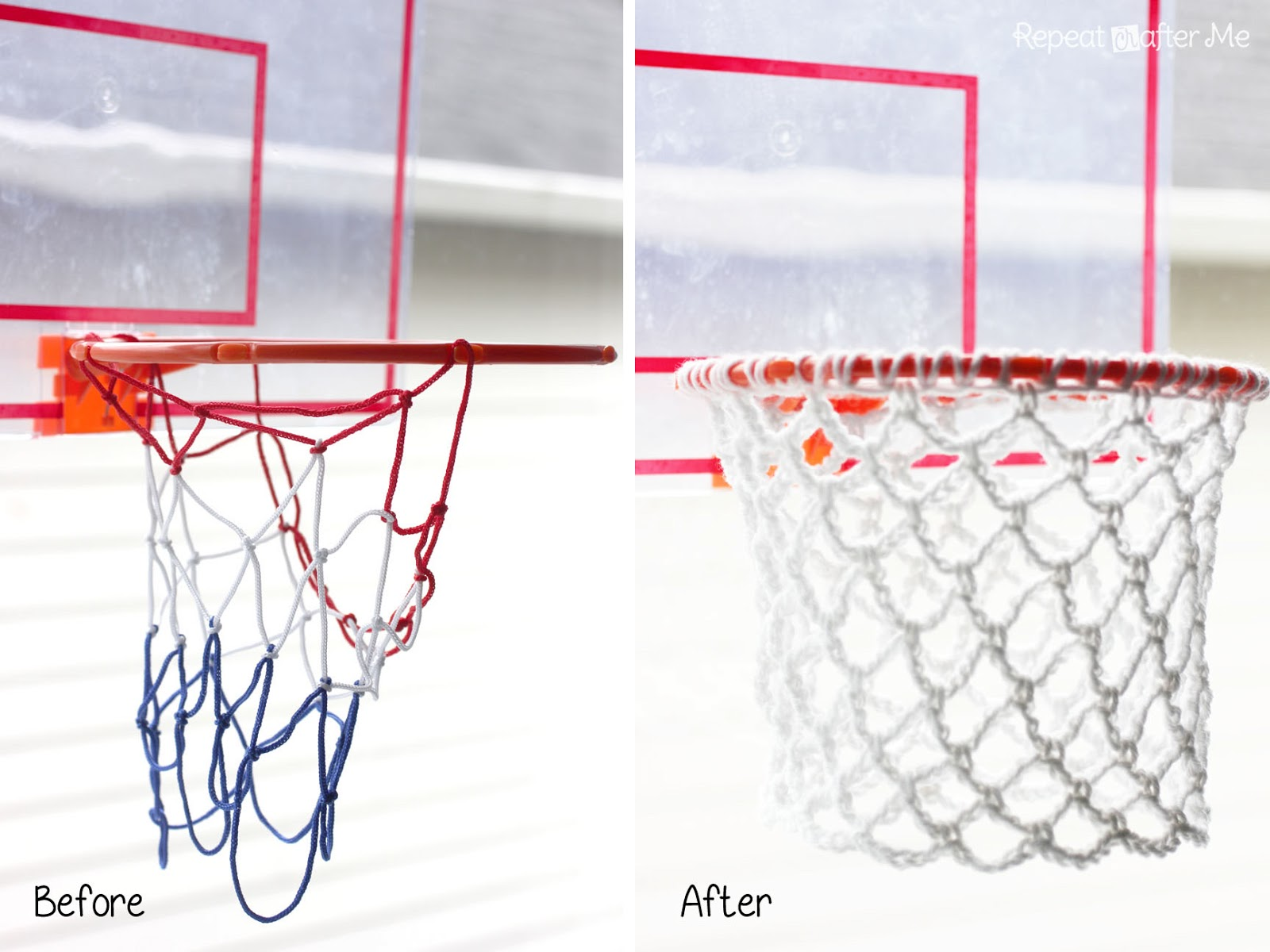 Crochet basketball hoop net repeat crafter me for How to build a basketball goal