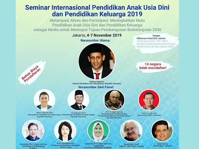 Seminar Internasional PAUD dan Parenting Digelar di Jakarta, 4 - 6 November 2019