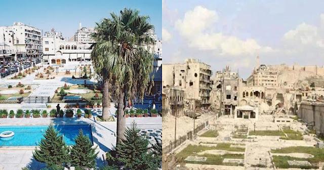 15 φωτογραφίες της Συρίας πριν και μετά από τον πόλεμο που απεικονίζουν το μέγεθος της καταστροφής