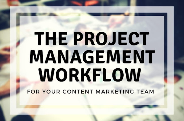 project management workflow content marketing team bootstrap business blog