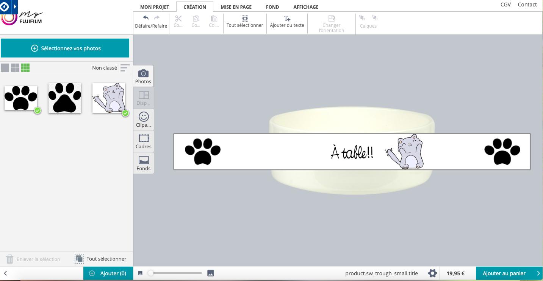 Gamelle pour chat avec myFUJIFILM.fr