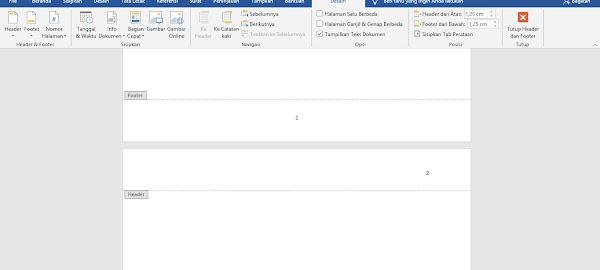 Cara Mengatur Nomor Halaman Berbeda di Microsoft Word