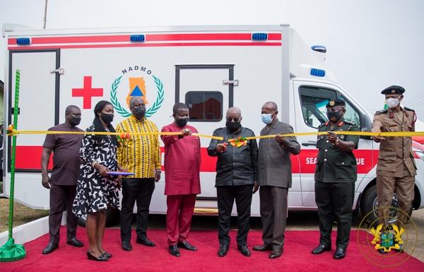President Akufo-Addo Presents 40 Vehicles To NADMO