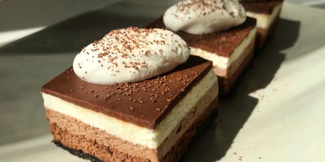 kolač sa tri vrste čokolade