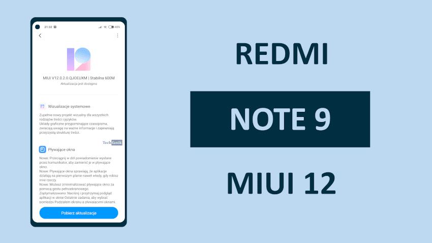 MIUI na Redmi Note 9 Co nowego?