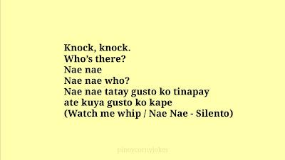 Naenae Knock knock tagalog jokes