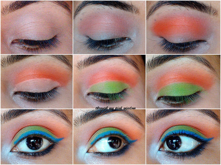 Independence Day Inspired Eye Makeup Look Tricolor Eye Makeup Look Through My Pink Window Beauty Makeup Review Lifestyle And More