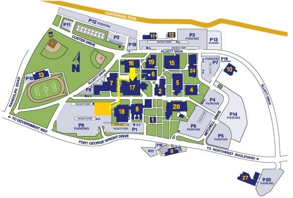 Spokane Falls Community College Map Compressportnederland