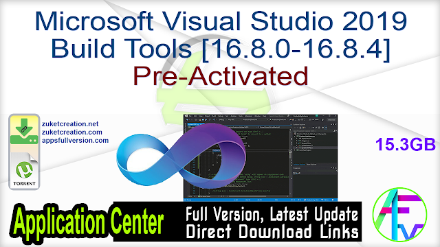 Microsoft Visual Studio 2019 Build Tools [16.8.0-16.8.4] Pre-Activated