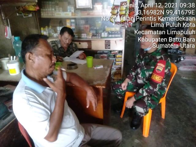 Gandeng Masyarakat, Personel Jajaran Kodim 0208/Asahan Dalam Rangka Untuk Lakukan Giat Komsos