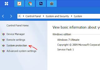Cara membuat dan menggunakan System Restore di windows 7