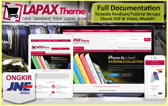 Template Toko Online LapakTheme dari Oketheme