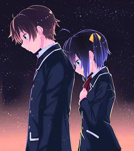 sad couple cute anime girl wallpaper