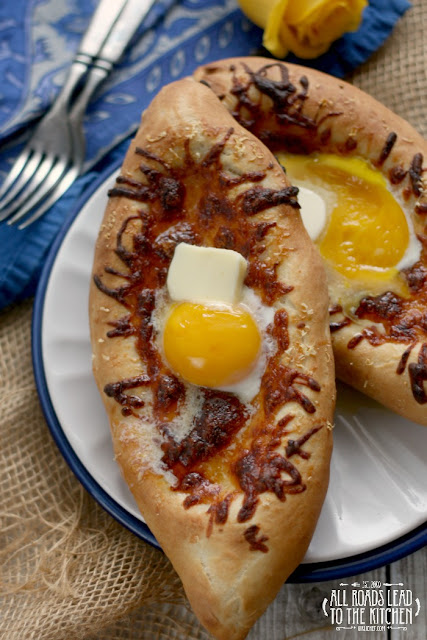 Acharuli Khachapuri (Georgian Cheese and Egg Bread)
