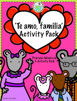 Te amo familia Spanish Theme Pack for Valentine's Day preschool