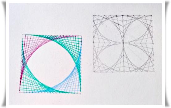 Mate Ticas Y Arte Trazar Curvas Parabolicas Con Lineas Rectas