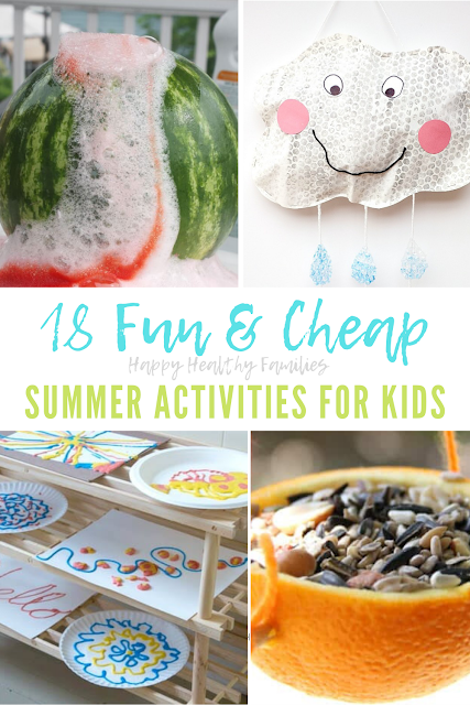 list of inexpensive summer kids activities kids can do at home
