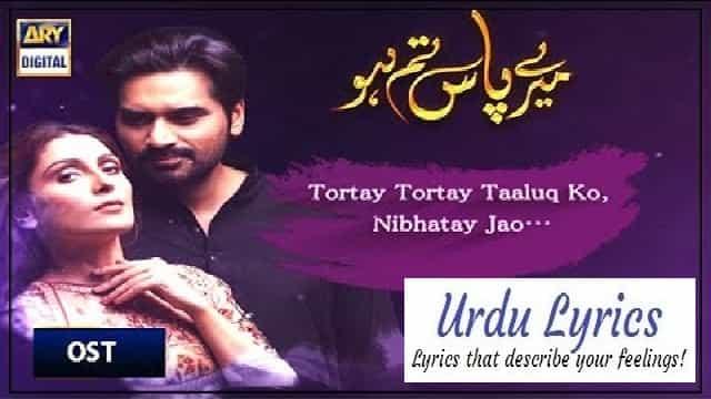 Meray Paas Tum Ho Lyrics - Rahat Fateh Ali Khan