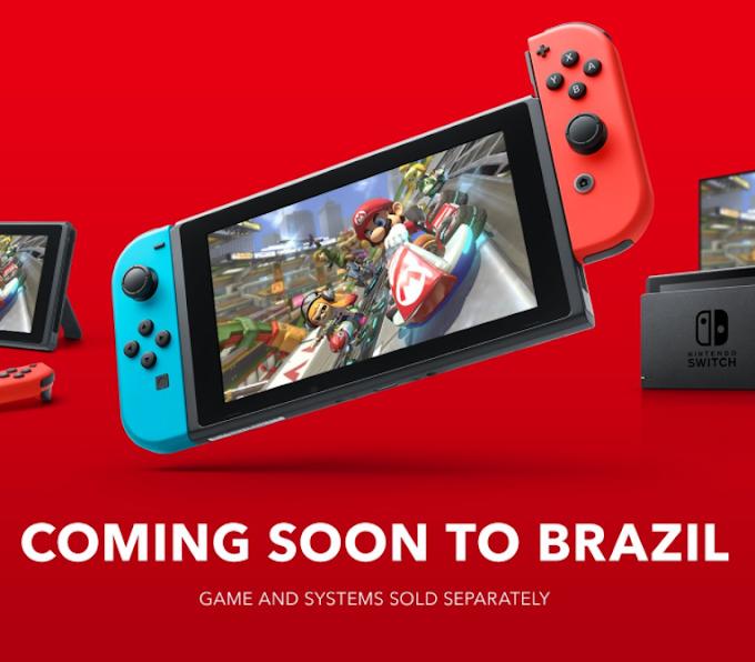 Depois de 3 anos Nintendo Switch chega ao Brasil