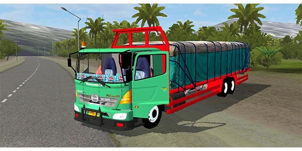 mod bussid truck hino dump terpal