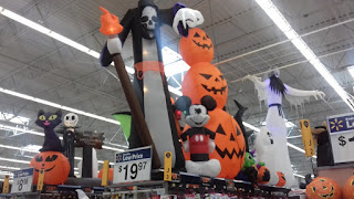 Halloween decorations at Walmart