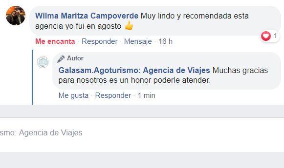 Les compartimos la opinión de nuestra querida peregrina, Wilma Maritza Campoverde
