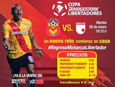 Monarcas vs Santa Fe en Vivo