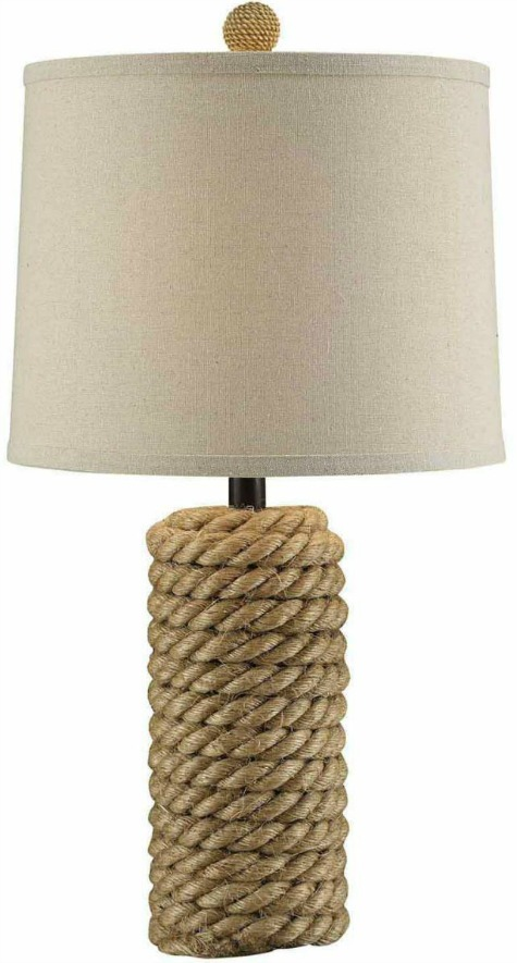 Rustic Rope Lamp