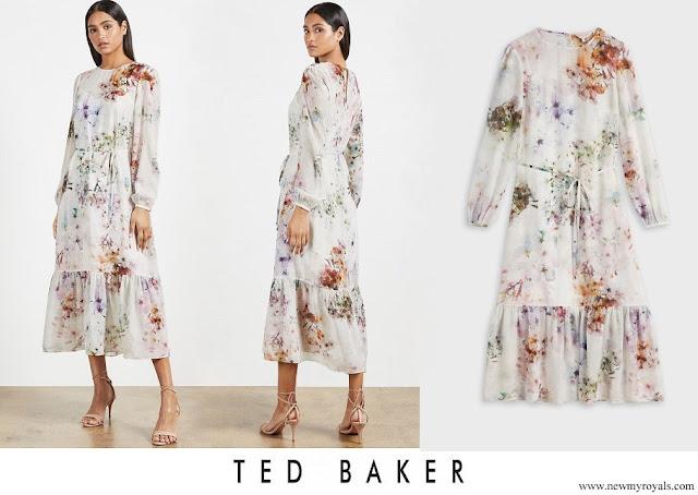Princess Marie wore Ted Baker KALLY Vanilla peplum midi dress