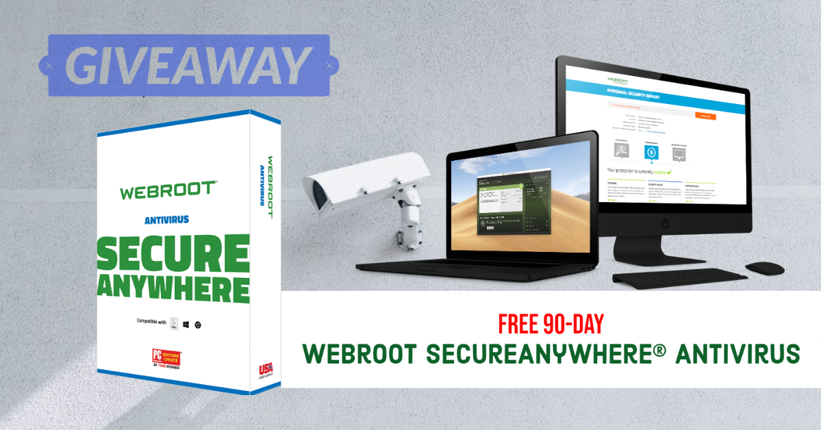 Giveaway: Webroot SecureAnywhere® AntiVirus For 90 Days