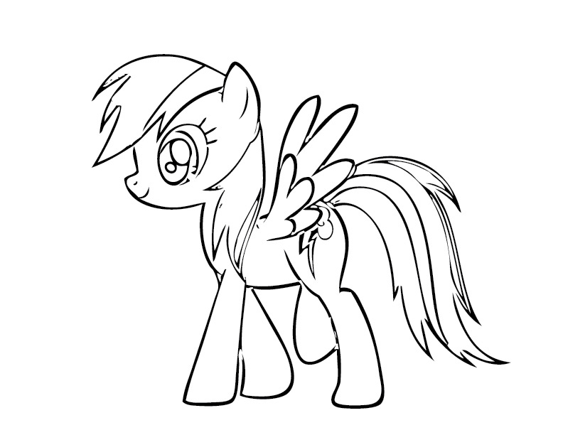 my little ponys coloring pages - photo #45