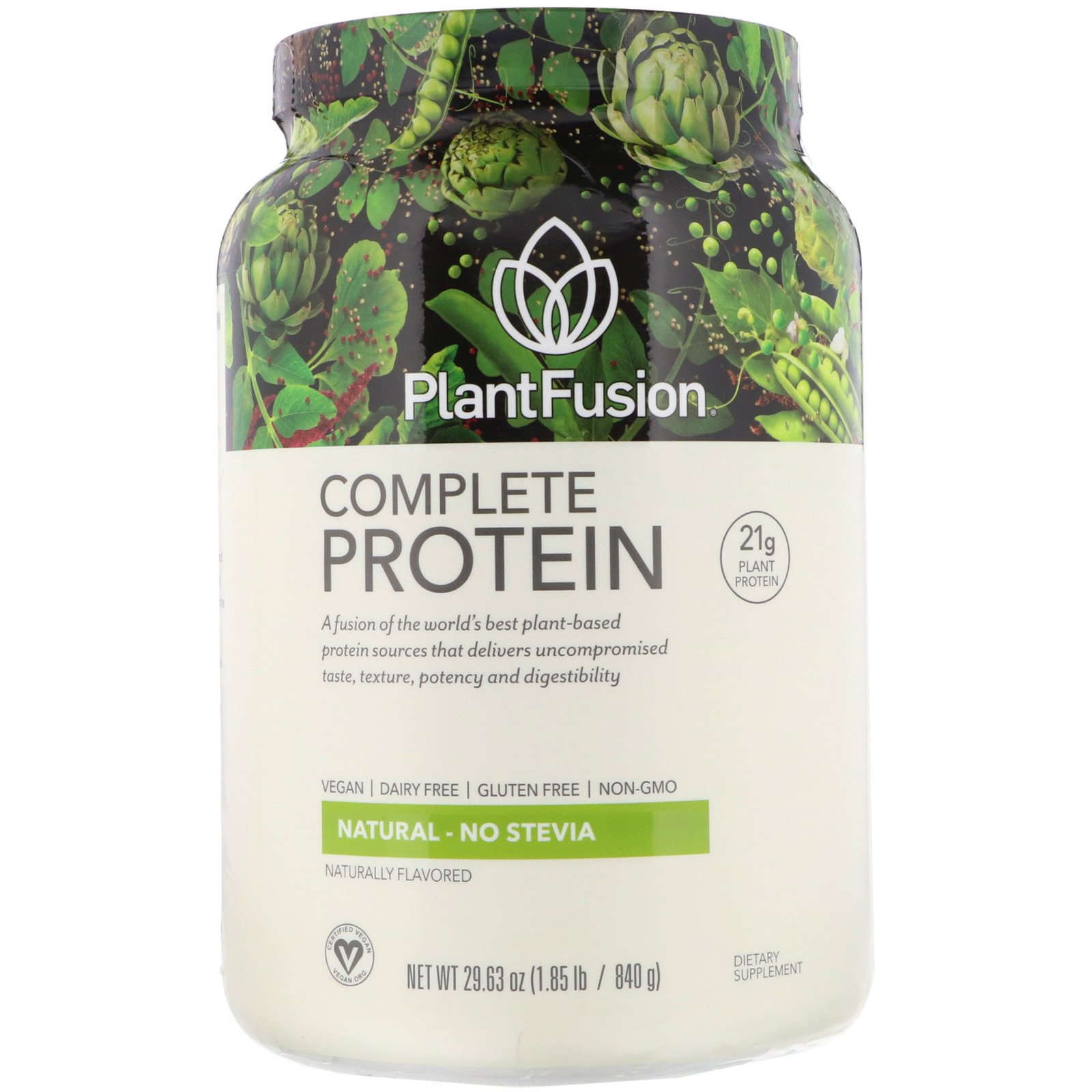 PlantFusion, Complete Protein, натуральный вкус, 840 г
