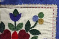 Use an embroidery stitch around the edge of the pillow.