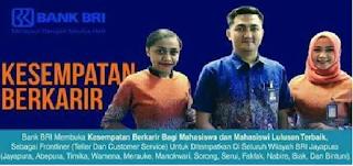Lowongan Kerja Bank BRI Jayapura Posisi Frontliner