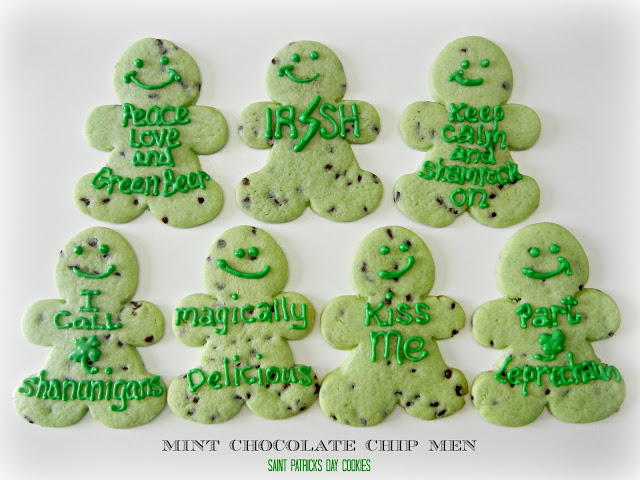 mint chocolate chip men cookies