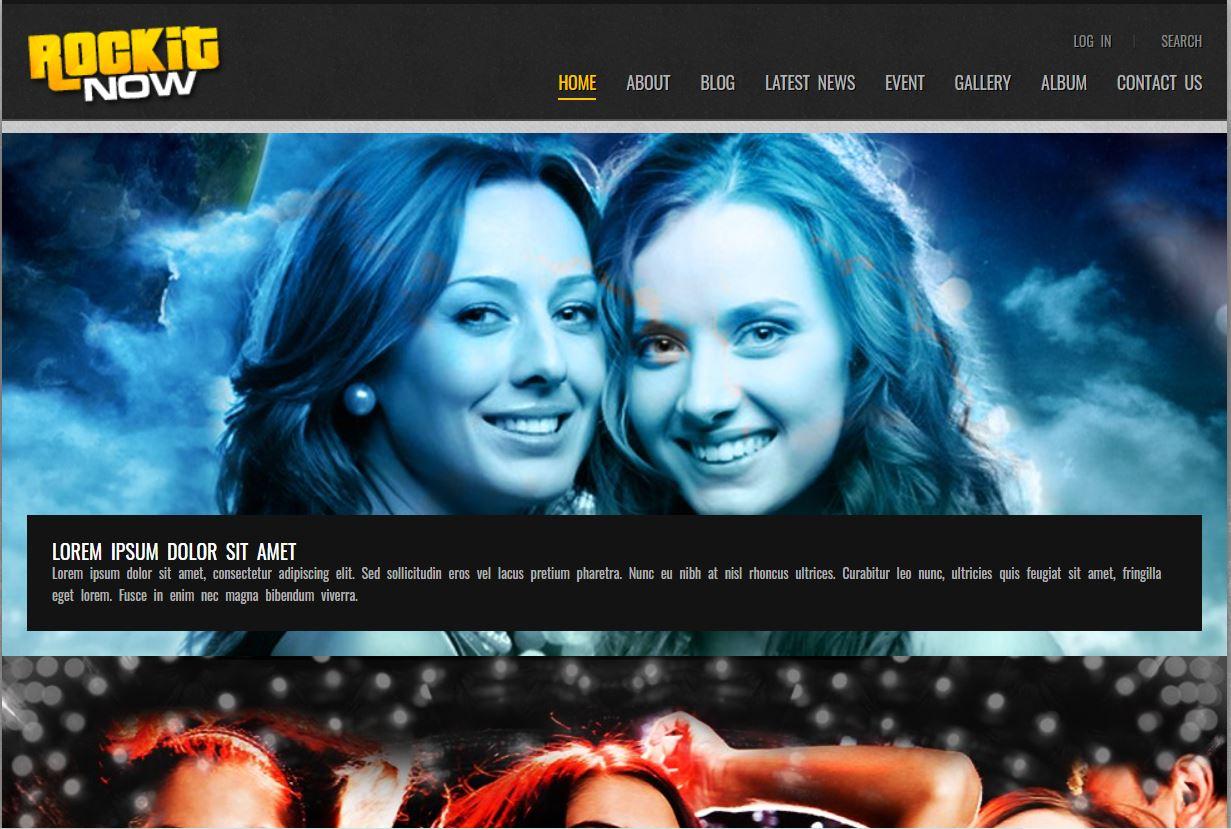 Rockit Now  Music Band WordPress Theme