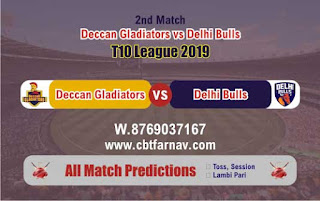 T10 League 2019 Delhi vs Deccan 2nd T10 2019 Match Prediction Today Reports