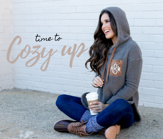 Cozy Winter Monograms from Marleylilly.com