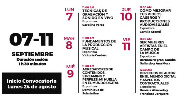 Destacas mujeres del área musical dictarán seminario inclusivo para enfrentar desafíos del sector